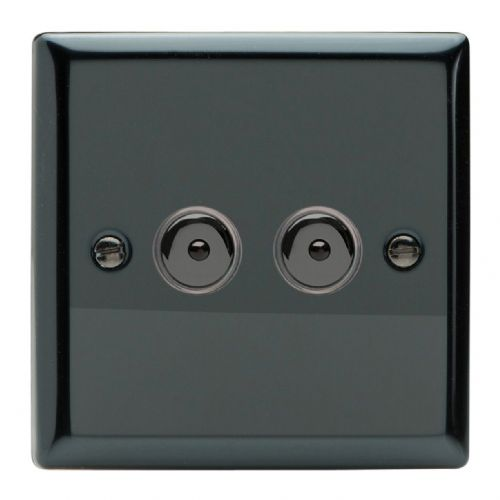 Varilight IJII102 Classic Iridium Black 2 Gang 1-Way Remote/Touch Master LED Dimmer 0-100W